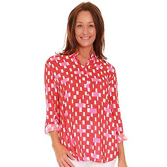 JUST WHITE Just White Red Blouse 42461