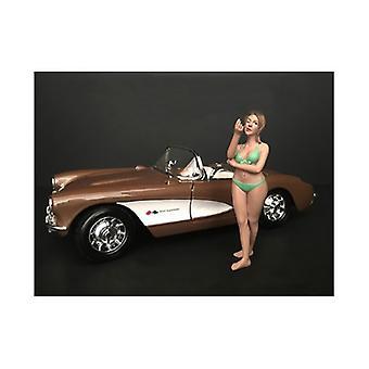 August Bikini Kalender Mädchen Figur für 1/18 Skala Modelle von Amerikanischen Diorama