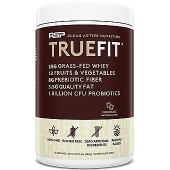 Rsp truefit protein powder, meal replacement shake, natural whey protein (chocolate)