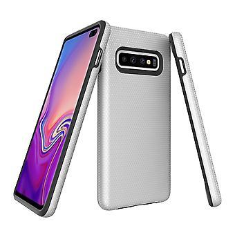 Für Samsung Galaxy S10 + Plus Fall, Rüstung Silber schützende langlebige Telefonabdeckung
