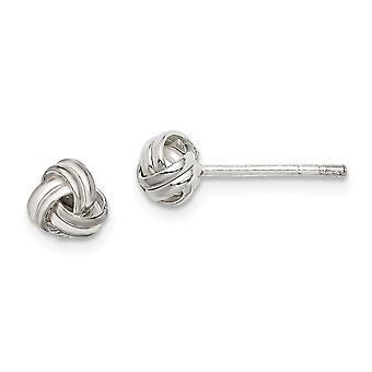 925 Sterling Silver Knot Post Boucles d'oreilles Bijoux Cadeaux pour les femmes - .9 Grammes