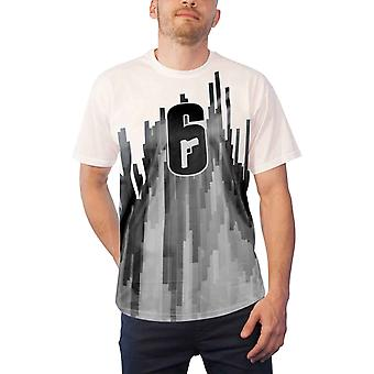 Rainbow 6 Siege T Shirt Classic Logo new Official Gamer Mens White