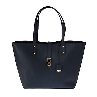 Michael Kors Blue Karson Leather Tote Bag