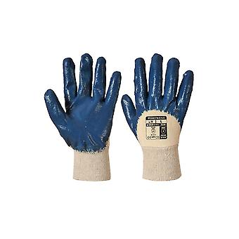 Portwest a330 nitrile workwear safety light knitwrist gloves