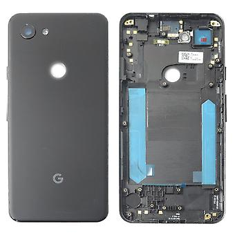 Battery Cover for Google Pixel 3A Black Jet Black Battery Cover Spare Part Backcover Lid Battery