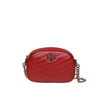 Tory Burch 60227611 Women's Red Leather Shoulder Bag