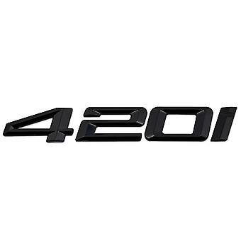 Gloss Black BMW 420i Car Model Rear Boot Number Letter Sticker Decal Badge Emblem For 4 Series F32 F33 F36 G22 G23 G26
