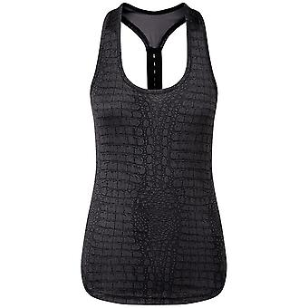 TriDri Womens/Ladies Performance Strap Back Animal Printed Vest
