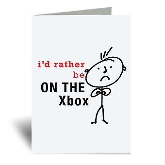 Mens אני ' די להיות ב-Xbox A6 כרטיס ברכה