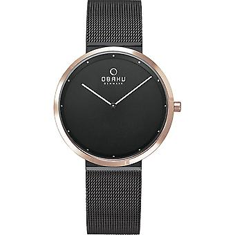 Obaku Papir Lille Night Women's Wristwatch V230LXMBMB