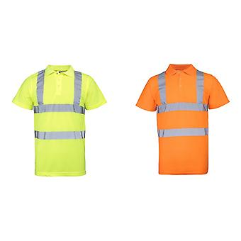 RTY High Visibility Mens High Vis Polo Shirt (Pack of 2)