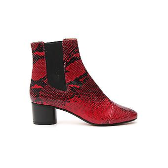 Isabel Marant 19abo006919a027s70rd Women's Red Leather Ankle Boots