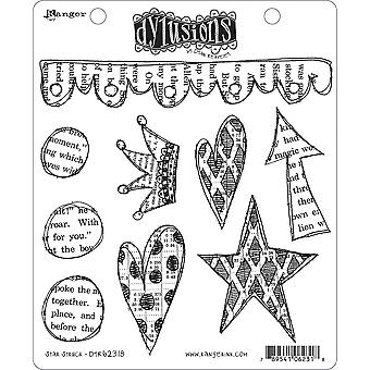 "Dyan Reaveley's Dylusions Cling Stamp Collections 8.5""X7"" - Star Struck"