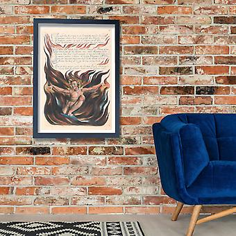 William Blake - Thus Wept the Angel Voice Poster Print Giclee