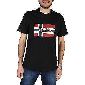 Napapijri Original Men Spring/Summer T-Shirt - Black Color 41701
