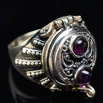 Large Poison Amethyst Ring Size 8.25 (925 Sterling Silver)  - Handmade Boho Vintage Jewelry RING3869