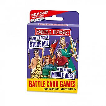 Horrible Histories Battle Card Games Stone Age to Middle Ages