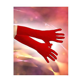 Handschuhe Handschuhe Stretch 40 cm rot
