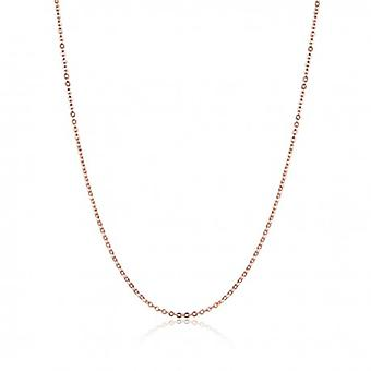 Sterling Silver Necklace With Lobster Clasp Rose Gold Color - 6109