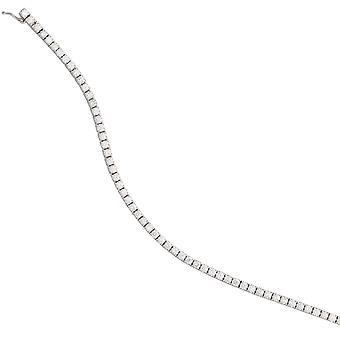 Bracelet 750 Gold White Gold 68 Diamonds Brilliant 3.53ct. 18 cm white gold bracelet