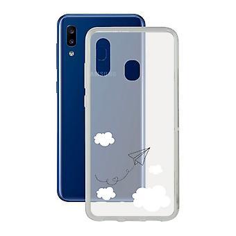 Mobile Abdeckung Samsung Galaxy A20 KSIX Flex TPU Transparent