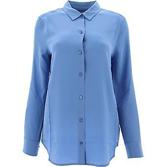 Equipment 195q23e900riverside Women's Blue Silk Shirt