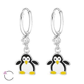 Pinguïn - 925 Sterling Zilver hoepels - W32908x