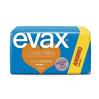 Sanitary Pads with Wings Super Evax (24 uds)