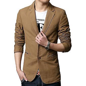 Allthemen Men's Casual Blazer Slim Fit Cotton Suit Jacket