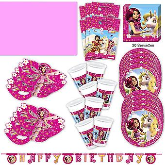 Mia and me Party Set XL 51-piece for 6 guests Miaparty Birthday Decoration Party Package