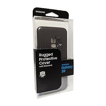 Alkuperäinen Samsung Galaxy S9 kestävä kotelo jalustalla - musta