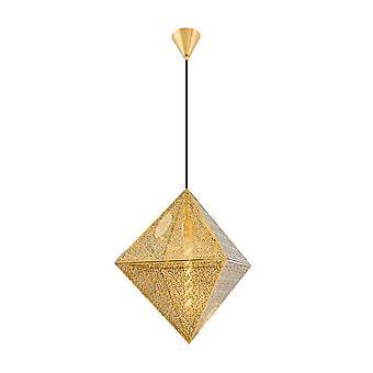 Lámpara de suspensión Petro Color Gold Metal 50x50x120 cm