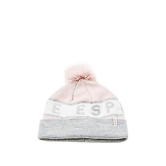 Esprit Girls' Knitted Hat With Glitter Logo And Pompom