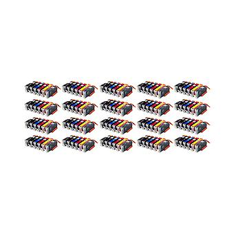 RudyTwos 20x Replacement for Canon PGI-550+CLI-551 Set Ink Unit HighYieldBlackPhotoBlackGreyCyanYellow&Magenta Compatible with Pixma iP7250, iP8750, iX6850, MG5450, MG5550, MG6350, MG6450, MG7150, MX7