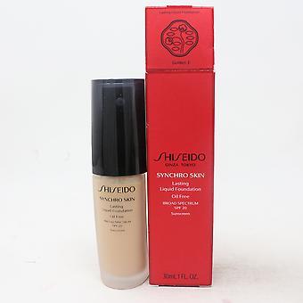Shiseido Synchro Skin Lasting Liquid Foundation Spf 20 1oz/30ml neu mit Box