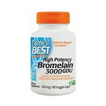 Hoge Potentie Bromelain 3000 GDU, 500mg 90 plantaardige capsules