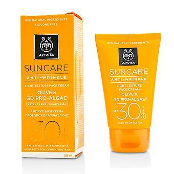 Suncare anti wrinkle light texture face cream spf 30 214224 50ml/1.7oz