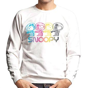 Peanuts Snoopy Space Emotions Men's Sweatshirt