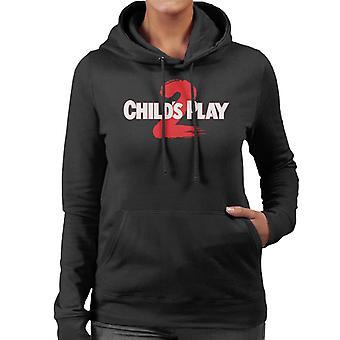 Chucky Childs Play 2 Logo Women's Sudadera con capucha