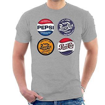 Pepsi Retro Etiketten Herren T-Shirt
