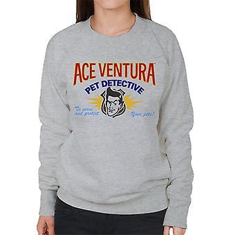 Ace Ventura Pet Detective logo naisten College pusero