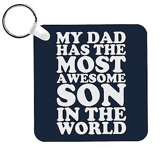 Mon père a le fils le plus génial du monde Keyring