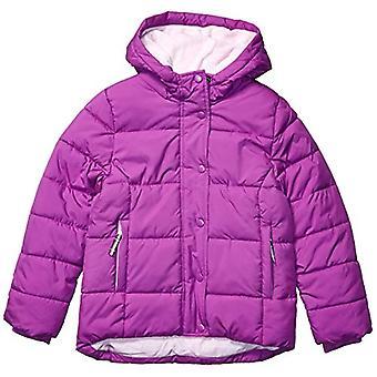 Essentials Girls' Big Heavy-Weight Hooded Puffer Coat, Bright Purple, ...