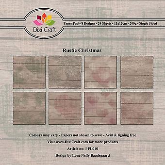 Dixi Craft Maalaismainen joulu 6x6 tuuman paperityyny