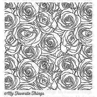 Mis cosas favoritas Roses todo sobre el sello de fondo