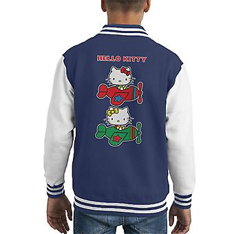 Hello Kitty And Mimmy Flying Kid's Varsity Jacket