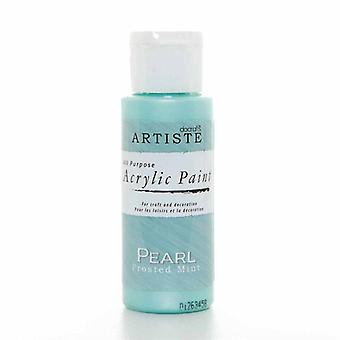 Docrafts Acrylic Paint (2oz) - Pearl Frosted Mint (DOA 763004)