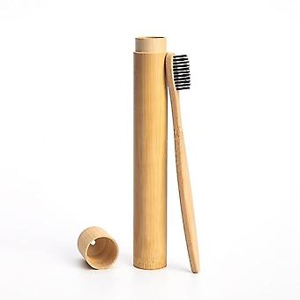 1pc Rainbow Toothbrush - 1pc Bamboo Tube Eco Friendly Natural Bamboo Toothbrush - Custodia Soft Head Teeth Brush