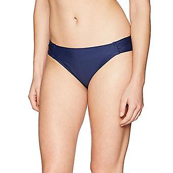 Brand - Coastal Blue Women's Swimwear Bikini Bottom, Navy, XL (16-18)