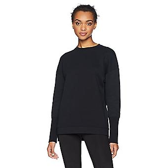 Brand - Core 10 Women's  Motion Tech Fleece Relaxed Fit Long Sleeve Cr...